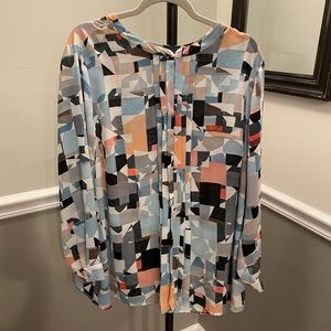 Vince Camuto Abstract Top Size 2X